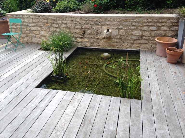 Terrasse bois avec bassin