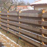 Cloture bois horizontale