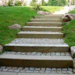 Escalier en pavés & madriers